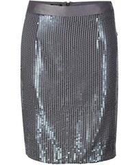 Stříbrná módní sukně