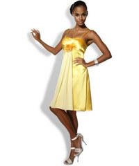 Žluté společenské šaty