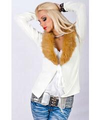 Dámský svetr s kožíškem