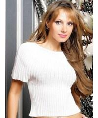 Přiléhavý bílý pulovr