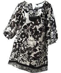 Saténové šaty s potiskem