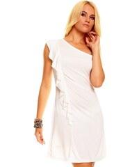 Něžné bílé šaty