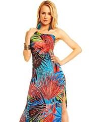 Dlouhé šaty s exotickým motivem