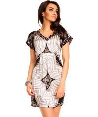 Dámské šaty s krátkým rukávem