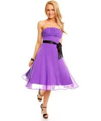 Fialové šifónové šaty