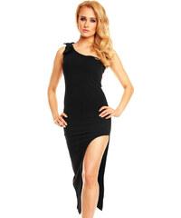 Dlouhé černé šaty na jedno rameno