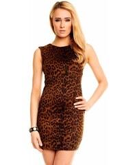Leopardí šaty semišové