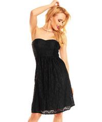 Korzetové krajkové černé šaty