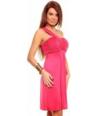 Italské asymetrické šaty růžové