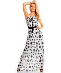 Dlouhé šifónové šaty retro vzhled