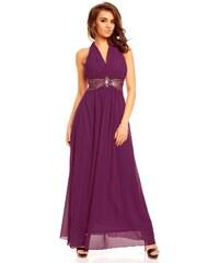 Dlouhé fialové plesové šaty Paříž
