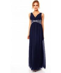 Dlouhé plesové šaty s výšivkou