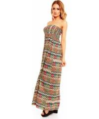Dlouhé módní šaty se chevron vzorem