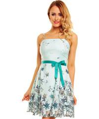 Korzetové elegantní šaty ze šifónu