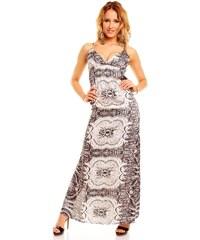 Dlouhé elegantní černobílé šaty