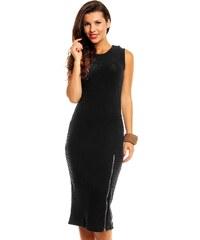 Černé úpletové šaty bez rukávů
