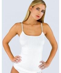 GINA Dámské košilka prodloužená, úzká ramínka, bezešvé, jednobarevné Bamboo PureLine 08016P