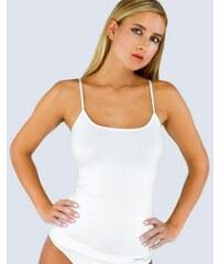 GINA Dámské košilka prodloužená, úzká ramínka, bezešvé, jednobarevné MicroBavlna 08015P