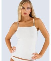 GINA Dámské košilka, úzká ramínka, bezešvé, jednobarevné MicroPolyamid 08006P