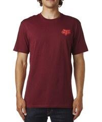 Pánské tričko Fox Interaction ss premium Tee burgundy XL