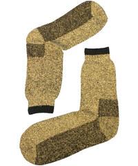 Sport Teplé vlněné ponožky Thermo světle hnědá 39-42