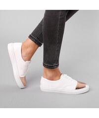 Lesara Sneaker mit Metallic-Kappe - 35