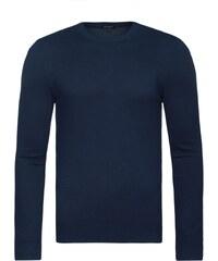 Moderní pohodlný tmavě modrý svetr NEW MEN 9020
