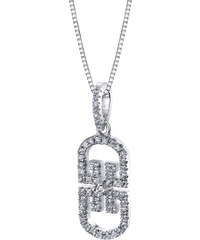 Eppi Bílé topazy v stříbrném náhrdelníku Deana