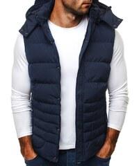 Fantastická tmavě modrá pánská vesta J. STYLE 501