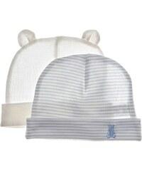 Benetton Lot de 2 bonnets pour nourissons - blanc