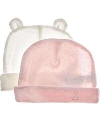Benetton Lot de 2 bonnets pour nourissons - rose clair