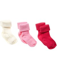 Benetton Lot de 3 paires chaussettes - rose
