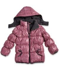 Blue Seven Dívčí prošívaná lesklá bunda - růžová
