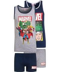 Marvel 2 PACK Set de sousvêtements navy/grau