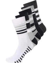 YOUR TURN 5 PACK Chaussettes grey/white/black/beige