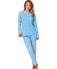 Regina Froté dámské pyžamo Květa modré
