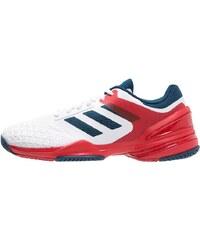 adidas Performance ADIZERO CLUB Chaussures de tennis sur terre battue white/tech steel/vivid red