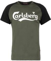 Carlsberg Tshirt imprimé verde militare/nera