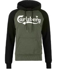 Carlsberg Sweat à capuche verde militare/nera