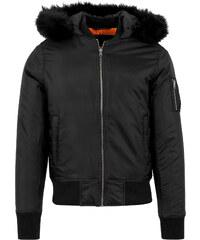 Urban Classics Hooded Basic Winterjacken Bomberjacke black