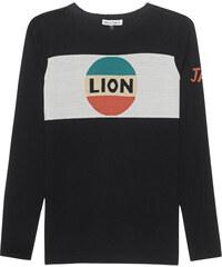 Bella Freud Lion Stripe Jumper Black