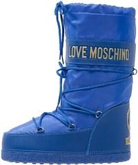Love Moschino Bottes à lacets bluette
