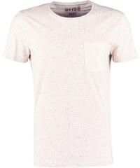 TOM TAILOR DENIM BASIC FIT Tshirt imprimé soft beige solid