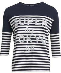 Superdry NORDIC BRETON Tshirt à manches longues navy/white