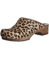 Sanita CAROLINE Sabots brown leopard