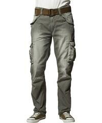 Schott NYC BATTLE Pantalon cargo kaki