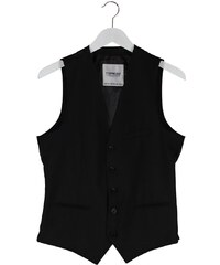 Topman ESSENTIAL Gilet de costume black