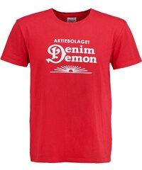 Denim Demon Tshirt imprimé red