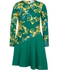 Young Versace Robe en jersey verde/oro