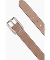 Esprit Zdrsněný kožený opasek, přezka s logem